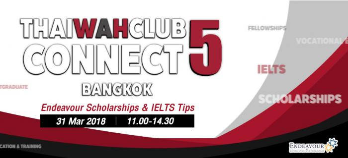 ThaiwahclubConnect5 : Endeavour Scholarships & IELTS Tips