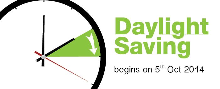 Daylight Saving 2014