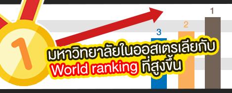 มหาวิทยาลัยในออสเตรเลียกับ World ranking ที่สูงขึ้น