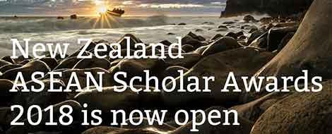 """ทุนรัฐบาลนิวซีแลนด์ """"NZ ASEAN Scholar Awards 2018"""""""