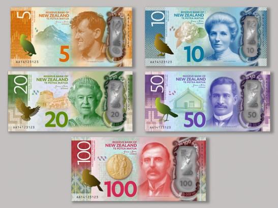 เห็นกันยัง? ธนบัตรใหม่ของแดนกีวีสีสันสดใสมาก เริ่มใช้ปี 2015