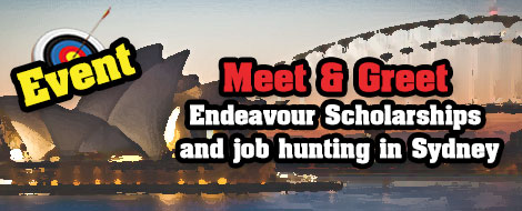 Sydney Event : Meet & Greet Endeavour scholarships and job hunting in Australia at CQU Sydney